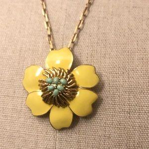 J. CREW yellow enamel flower best w mint eggs 🌼